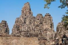 Prasat Bayon świątynia Angkor Thom, Siem Przeprowadza żniwa, Kambodża Zdjęcia Stock