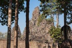 Prasat Bayon świątynia Angkor Thom, Siem Przeprowadza żniwa, Kambodża Obrazy Stock