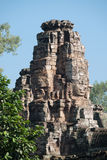 Prasat Bayon, Angkor Wat, day blue sky heads stone tower Royalty Free Stock Image