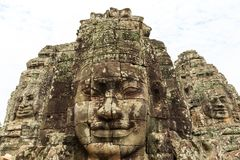 Prasat Bayon or Bayon Temple Is a Richly Decorated Khmer Temple stock photos
