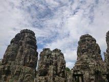 Prasat Bayon, il tempio dei fronti fotografia stock
