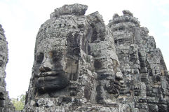 Prasat Bayon Khmer temple at Angkor in Siem Reap Cambodia. Stock Photo