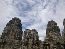 Prasat Bayon, le temple des visages Photo stock