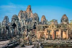 Prasat-bayon Tempel Angkor Thom Kambodscha Stockbilder