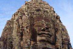 Prasat Bayon tempel i Angkor Thom, Cambodja Arkivbild