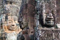 Prasat Bayon tempel i Angkor Thom, Cambodja Royaltyfri Fotografi