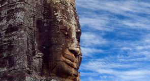 Prasat Bayon Temple in Angkor Thom, Cambodia. Prasat Bayon temple (late 12th - early 13th century) on the sky bachkground in Angkor Thom, Cambodia stock image