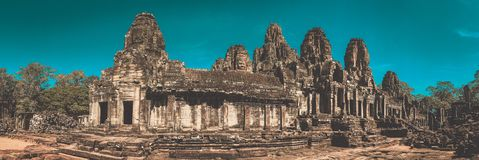 Prasat Bayon Temple in Angkor Thom, Siem Reap, Cambodia Royalty Free Stock Photos