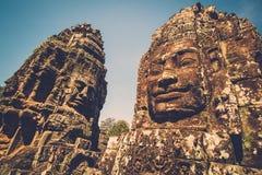 Prasat Bayon temple, Siem Reap, Cambodia. Stock Image