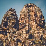 Prasat Bayon temple, Siem Reap, Cambodia. Royalty Free Stock Images
