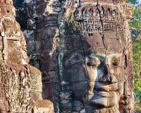 Prasat Bayon temple statue, Angkor, Cambodia Royalty Free Stock Images