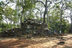 Prasat Boeung Khna寺庙吴哥时代 库存图片