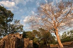 Prasat Chrong暹粒,柬埔寨 免版税库存照片