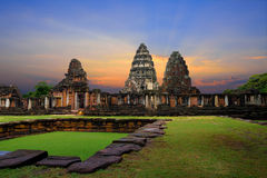 Castle Rock in Phimai Historical Park Stock Image