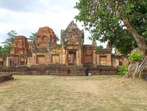 Prasat Hin Muang Tam Shrine Complex, de goed Bewaarde Khmer Tempel in Thailand Royalty-vrije Stock Foto's