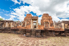Prasat Hin Mueang Tam Hindu religious ruin located in Buri Ram Province Thailand Royalty Free Stock Photo