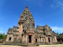 Prasat Hin Phanom Rung against vibrant blue sky, well preserved ancient Khmer Temple in Buriram Province Royalty Free Stock Photography