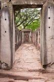 Prasat Hin Phimai,古老高棉寺庙复合体内在圣所  库存照片