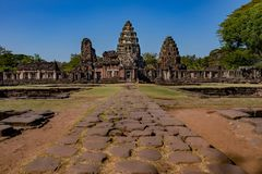 Prasat hin phimai important historical traveling destination in. Nakorn ratchasima north eastern of thailand Royalty Free Stock Photos