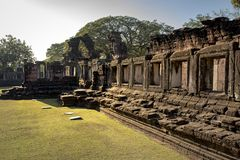 Prasat hin phimai important historical traveling destination in. Prasat hin phimai   important historical traveling destination in nakorn ratchasima north Royalty Free Stock Photography