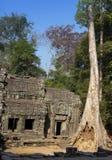 Prasat Kravan寺庙废墟在吴哥窟暹粒,柬埔寨, 12世纪 免版税库存图片