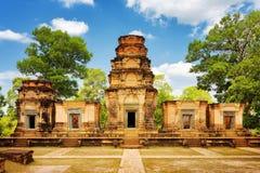 Prasat Kravan是高棉纪念碑在古老吴哥窟,柬埔寨 库存照片