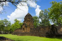 Prasat Mueang Sing Historical Park in Kanchanaburi ,Thailand. Prasat Muang Sing the antique stone castle is located at Kanchanaburi province Thailand royalty free stock photography