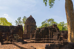 Prasat Muang Singh khmer style at kanchanaburi Royalty Free Stock Images