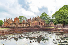 Prasat Muang Tam圣所, 1,000岁高棉寺庙复合体,武里喃府省,泰国 免版税库存图片