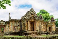 Prasat Muang Tam, an ancient Khmer-style Hindu temple complex in Buriram Province, Thailand Royalty Free Stock Photos