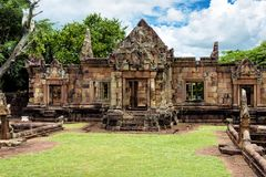 Prasat Muang Tam, an ancient Khmer-style temple complex in Buriram Province, Thailand Stock Photo