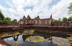 Prasat Muang Tam historical park is Castle Rock old Architecture Royalty Free Stock Photo