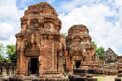 Prasat Muang Tam, an ancient Khmer-style temple complex in Buriram Province, Thailand Royalty Free Stock Photo
