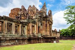 Prasat Muang Tam, an ancient Khmer-style Hindu temple complex in Buriram Province, Thailand Stock Photo