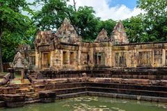 Prasat Muang Tam, an ancient Khmer-style Hindu temple complex in Buriram Province, Thailand Royalty Free Stock Photography