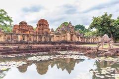 Prasat Muang Tam Sanctuary, een 1.000 jaar oude Khmer complexe tempel, Buriram-provincie, Thailand Royalty-vrije Stock Fotografie