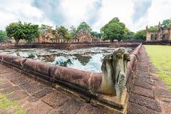 Prasat Muang Tam Sanctuary, um complexo velho do templo de um Khmer de 1.000 anos, província de Buriram, Tailândia Imagens de Stock