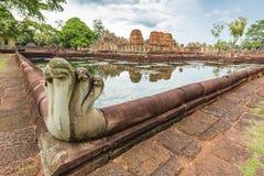 Prasat Muang Tam Sanctuary, um complexo velho do templo de um Khmer de 1.000 anos, província de Buriram, Tailândia Imagem de Stock