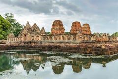 Prasat Muang Tama sanktuarium, 1.000 lat Khmer świątynny kompleks, Buriram prowincja, Tajlandia Zdjęcie Royalty Free