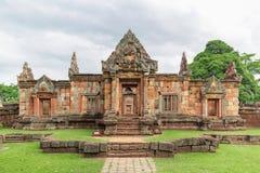Prasat Muang Tama sanktuarium, 1.000 lat Khmer świątynny kompleks, Buriram prowincja, Tajlandia Obrazy Stock