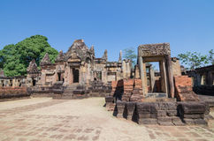Prasat Mueang Tam historical park about a thousand years ago at Buriram province Thailand. Prasat Muang Tam historical park castle rock about a thousand years Royalty Free Stock Image