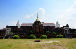 Prasat Nakhon Luang Temple Ruin of Ayutthaya Stock Photos