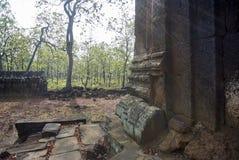 Prasat Neang Khmau寺庙吴哥时代 库存图片