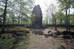 Prasat Neang Khmau寺庙吴哥时代 免版税库存图片