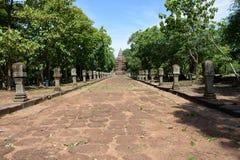 Prasat Phanom звенело, старый комплекс виска Кхмер-стиля в провинции Buriram, Таиланде Стоковая Фотография RF
