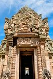 Prasat Phanom звенело, старый комплекс индусского виска Кхмер-стиля в провинции Buriram, Таиланде стоковые фото
