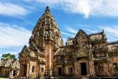 Prasat Phanom звенело, старый комплекс индусского виска Кхмер-стиля в провинции Buriram, Таиланде стоковое фото