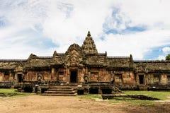 Prasat Phanom ringde historiskt parkerar, ettstil tempelkomplex som byggdes i det 10th --13thårhundradet Royaltyfria Bilder
