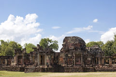Prasat Phanom Wan. During the 13th to 14th century A.D. the stone structure of Prasat Phanom Wan was built on top of a 10th century A.D.. Brick structure Royalty Free Stock Image