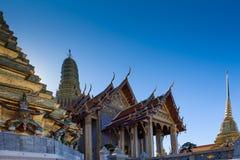 Prasat Phra Thep Bidon and Golden Chedis Stock Photography